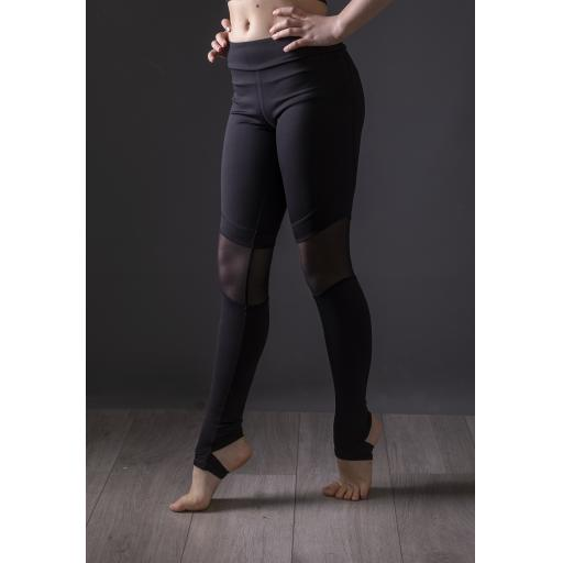 Bloch mesh stirrup leggings