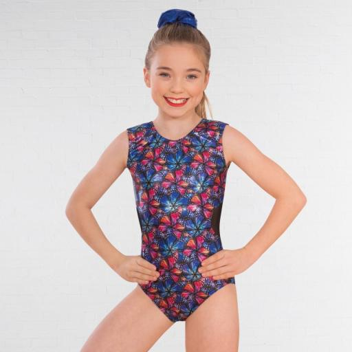 Butterfly mesh back leotard