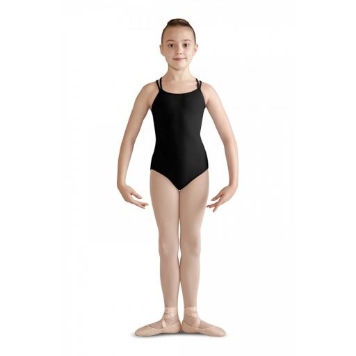 Bloch bow mesh camisole leotard