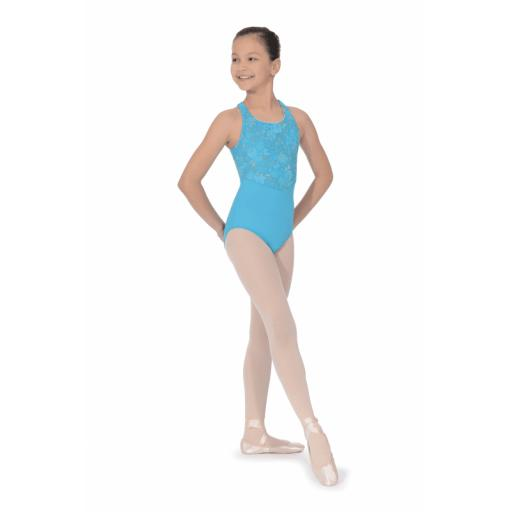 Bloch V waistline cross back leotard